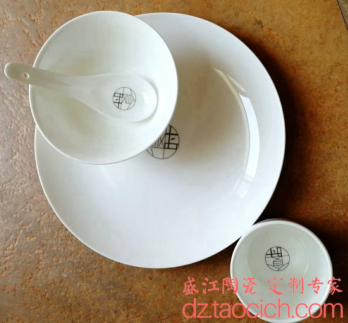 盛江陶瓷 食时餐具定制成功案例