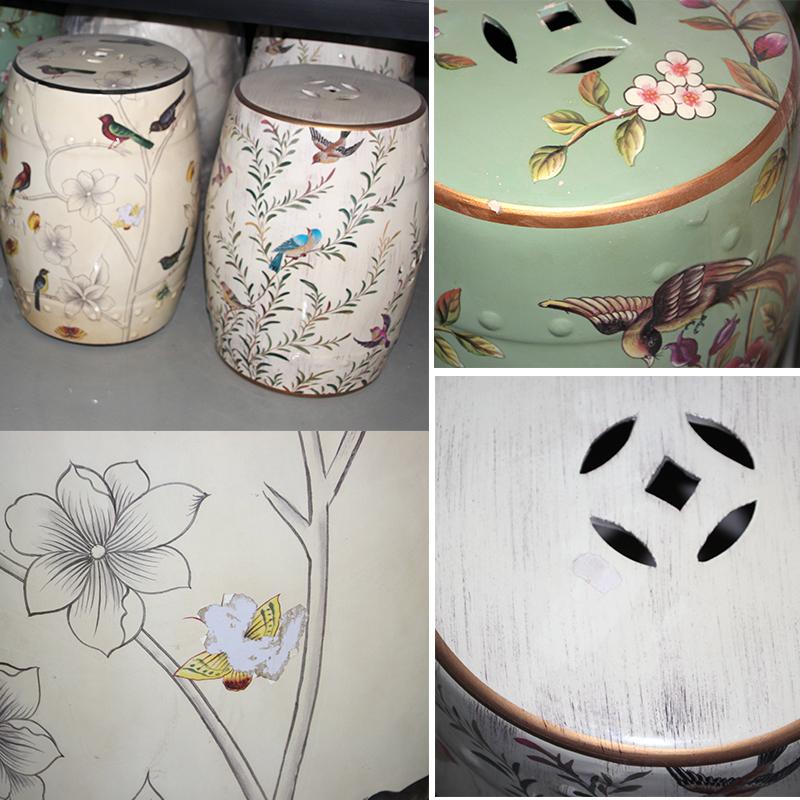 景德镇高温颜色釉凳子与潮州喷漆凳子的区别