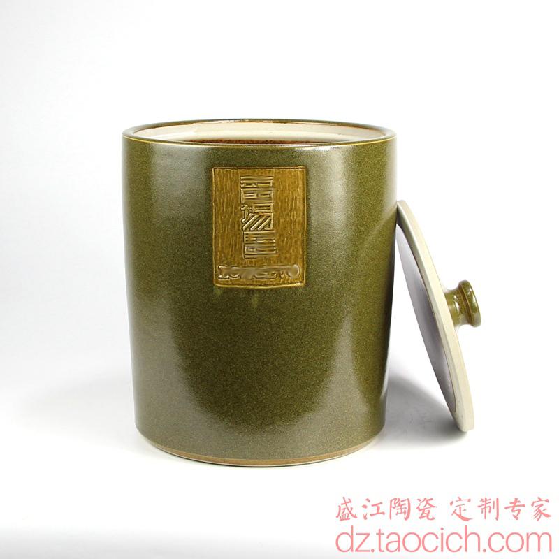 北京客户陶瓷罐Logo定制成功案例 景德镇盛江陶瓷