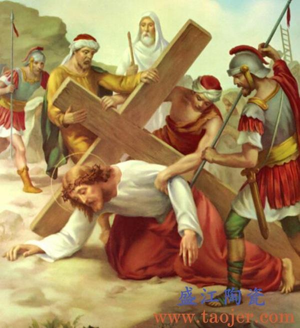 上图:盛江陶瓷 为教堂定制激光打印瓷像大型陶瓷壁画——耶稣受难日休市 购买定制请点击图片