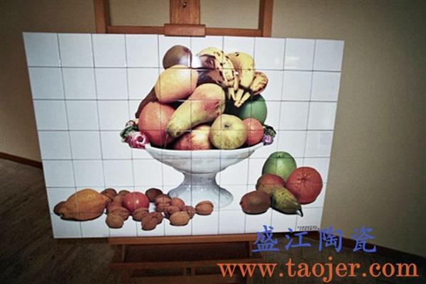 上图:盛江陶瓷 定制激光打印瓷像大型陶瓷壁画——水果 购买定制请点击图片