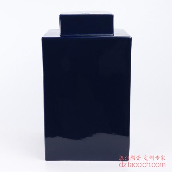 上图:颜色釉祭蓝(霁蓝)深蓝色四方陶瓷灯具主体正面 购买请点击图片