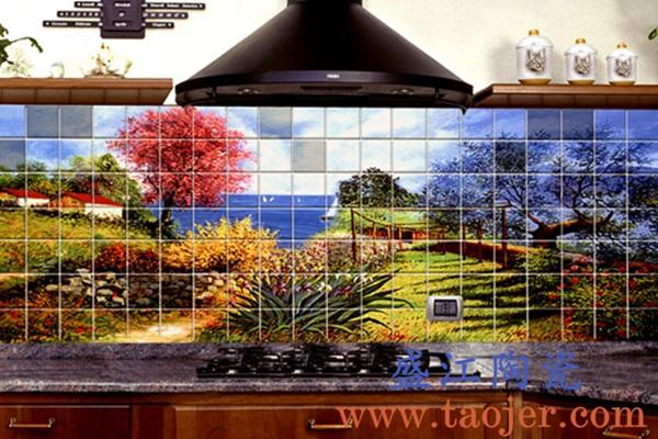 上图:盛江陶瓷 定制激光打印瓷像大型陶瓷壁画——风景 购买定制请点击图片