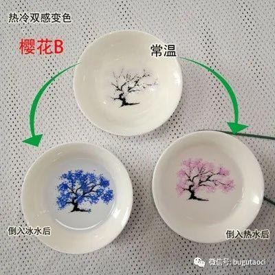景德镇盛江陶瓷推出双感变色樱花杯——遇热水变红,预冷水变蓝