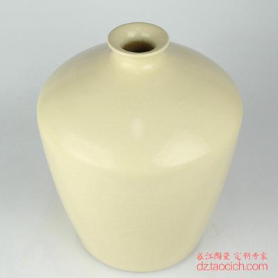 高纹颜色釉白色花瓶梅瓶