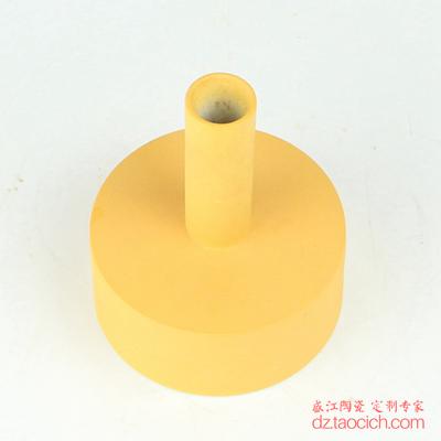 颜色釉磨砂釉黄色异形小花瓶花插